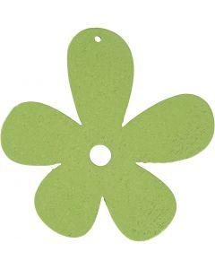 Bloem, afm 57x51 mm, lime groen, 10 stuk/ 1 doos