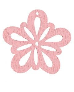 Bloem, d: 27 mm, roze, 20 stuk/ 1 doos