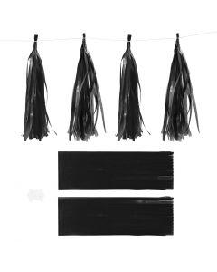 Tassels, afm 12x35 cm, 14 gr, zwart, 12 stuk/ 1 doos