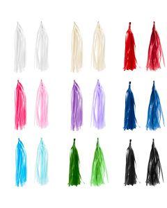 Tassels, afm 12x35 cm, diverse kleuren, 9x10 doos/ 1 doos