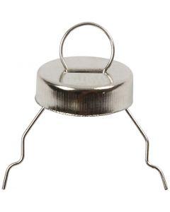 Metalen hanger, d: 13 mm, zilver, 25 stuk/ 1 doos