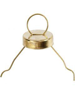 Metalen hanger, goud, 25 stuk/ 1 doos
