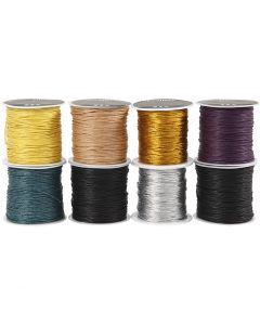 Katoenkoord, dikte 1 mm, diverse kleuren, 8x40 m/ 1 doos
