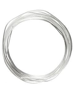 Verzilverd draad, dikte 1,2 mm, verzilverd, 3 m/ 1 rol