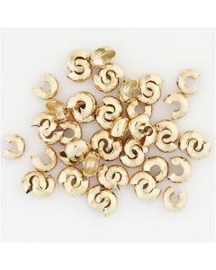 Metalen hoes, d: 5 mm, verguld, 500 stuk/ 1 doos