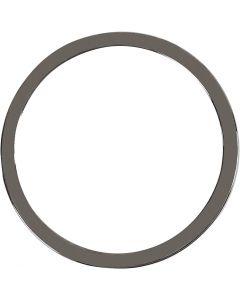 Hanger, d: 30 mm, donker metallic grijs, 2 stuk/ 1 doos