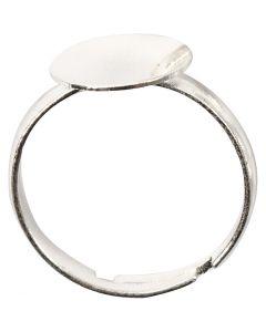 Ring voor de vinger, verzilverd, 15 stuk/ 1 doos