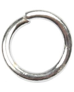 Ring, rond, afm 4,4 mm, dikte 0,7 mm, verzilverd, 500 stuk/ 1 doos