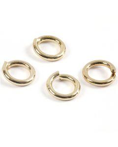 Ring, rond, verguld, 500 stuk/ 1 doos