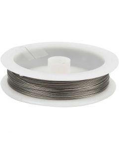 Sieradendraad, dikte 0,38 mm, zilver, 30 m/ 1 rol