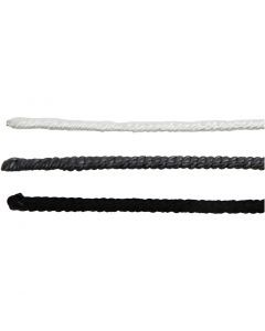Wire met nylon, L: 40 cm, dikte 1,5 mm, zwart, grijs, wit, 6 stuk/ 1 doos