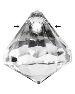 Acryl kralen, afm 17x16 mm, gatgrootte 1,2 mm, Transparant glans, 43 stuk/ 1 doos