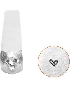 Embossing stempel, hart, L: 65 mm, afm 3 mm, 1 stuk