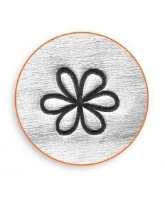 Embossing stempel, bloem, L: 65 mm, afm 6 mm, 1 stuk