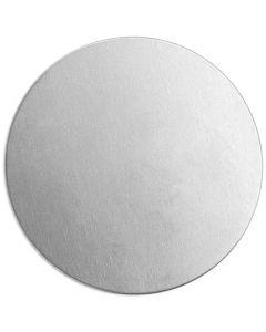 Metalen label, rond, d: 20 mm, dikte 1,3 mm, aluminium, 15 stuk/ 1 doos