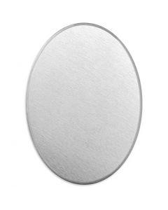 Metalen label, ovaal, afm 18x13 mm, dikte 1,3 mm, aluminium, 15 stuk/ 1 doos