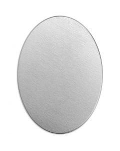 Metalen label, ovaal, afm 25x18 mm, dikte 1,3 mm, aluminium, 15 stuk/ 1 doos