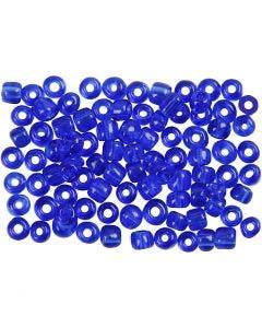 Rocailles, d: 4 mm, afm 6/0 , gatgrootte 0,9-1,2 mm, kobalt blauw, 500 gr/ 1 doos