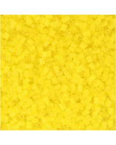 2-cut, d: 1,7 mm, afm 15/0 , gatgrootte 0,5 mm, transparant geel, 500 gr/ 1 zak