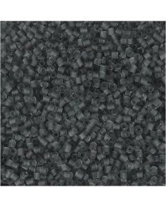 2-cut, d: 1,7 mm, afm 15/0 , gatgrootte 0,5 mm, transparant grijs, 500 gr/ 1 zak