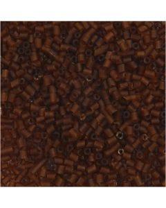 2-cut, d: 1,7 mm, afm 15/0 , gatgrootte 0,5 mm, bruin, 500 gr/ 1 zak