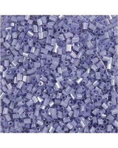 2-cut, d: 1,7 mm, afm 15/0 , gatgrootte 0,5 mm, transparant paars, 25 gr/ 1 doos