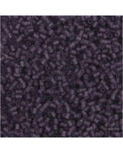 2-cut, d: 1,7 mm, afm 15/0 , gatgrootte 0,5 mm, frosted lila, 500 gr/ 1 zak