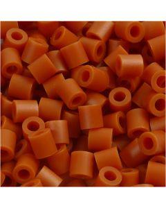 Strijkkralen, afm 5x5 mm, gatgrootte 2,5 mm, medium, rood bruin (32254), 6000 stuk/ 1 doos