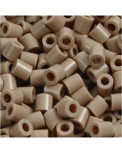 Strijkkralen, afm 5x5 mm, gatgrootte 2,5 mm, medium, beige (32248), 1100 stuk/ 1 doos