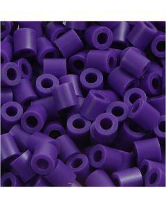 Strijkkralen, afm 5x5 mm, gatgrootte 2,5 mm, medium, donkerpaars (32234), 6000 stuk/ 1 doos