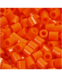 Strijkkralen, afm 5x5 mm, gatgrootte 2,5 mm, medium, helder oranje (32233), 6000 stuk/ 1 doos