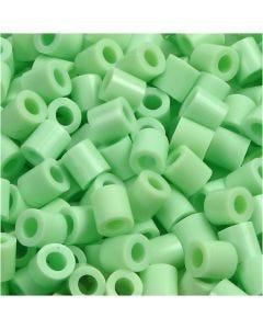 Strijkkralen, afm 5x5 mm, gatgrootte 2,5 mm, medium, pastel groen (32252), 1100 stuk/ 1 doos