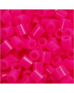 Strijkkralen, afm 5x5 mm, gatgrootte 2,5 mm, medium, cerise (32258), 6000 stuk/ 1 doos
