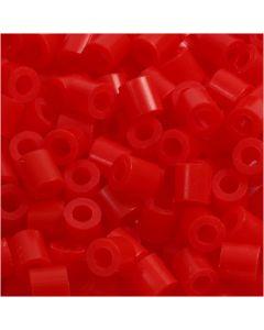 Strijkkralen, afm 5x5 mm, gatgrootte 2,5 mm, medium, lichtrood (32225), 6000 stuk/ 1 doos