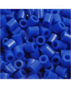 Strijkkralen, afm 5x5 mm, gatgrootte 2,5 mm, medium, donkerblauw (32232), 6000 stuk/ 1 doos