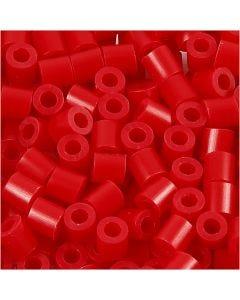 Strijkkralen, afm 5x5 mm, gatgrootte 2,5 mm, medium, rood (32231), 6000 stuk/ 1 doos