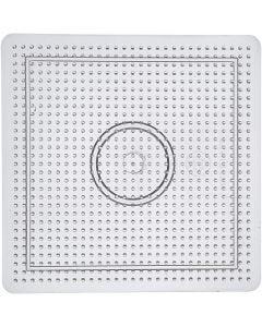 Onderplaat, afm 14,5x14,5 cm, transparant, 1 stuk