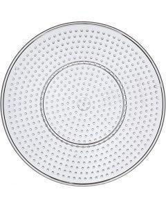 Onderplaat, grote cirkel, d: 15 cm, transparant, 1 stuk