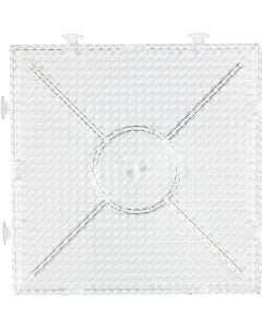 Onderplaat, afm 15x15 cm, transparant, 1 stuk