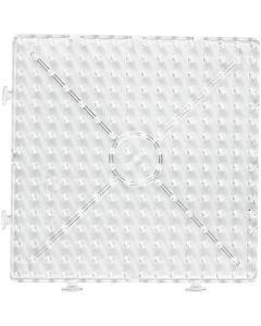 Onderplaat, groot vierkant, JUMBO, transparant, 1 stuk