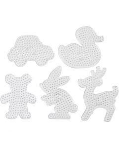 Onderplaten, afm 16x19,5-19x24 cm, JUMBO, transparant, 5 stuk/ 1 doos