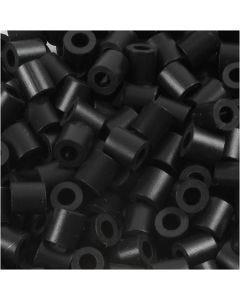 Foto kralen, afm 5x5 mm, gatgrootte 2,5 mm, schwarz (1), 1100 stuk/ 1 doos