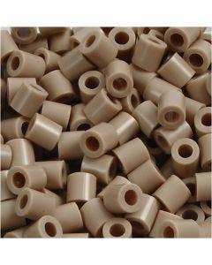 Foto kralen, afm 5x5 mm, gatgrootte 2,5 mm, beige (6), 6000 stuk/ 1 doos