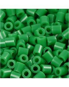 Foto kralen, afm 5x5 mm, gatgrootte 2,5 mm, groen (16), 1100 stuk/ 1 doos