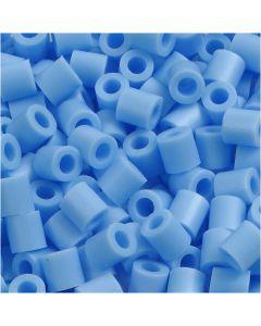 Foto kralen, afm 5x5 mm, gatgrootte 2,5 mm, pastel blauw (23), 1100 stuk/ 1 doos