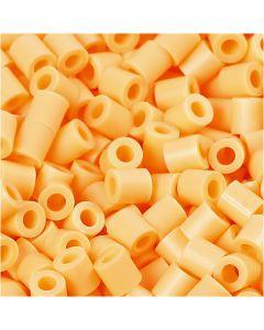 Foto kralen, afm 5x5 mm, gatgrootte 2,5 mm, lichtoranje (26), 6000 stuk/ 1 doos