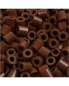 Foto kralen, afm 5x5 mm, gatgrootte 2,5 mm, chocolate (27), 1100 stuk/ 1 doos