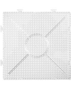 Onderplaat, afm 15x15 cm, transparant, 2 stuk/ 1 doos