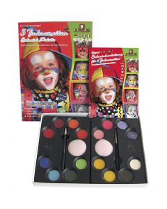 Schmink set met stap-voor-stap, diverse kleuren, 1 set