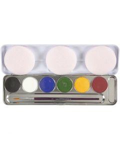 Schmink, diverse kleuren, 6 kleur/ 1 set